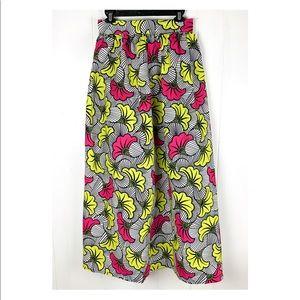 High Waist African Wax Print Skirt